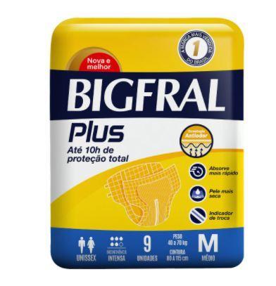 FRALDA BIGFRAL PLUS TAM: M C/ 9