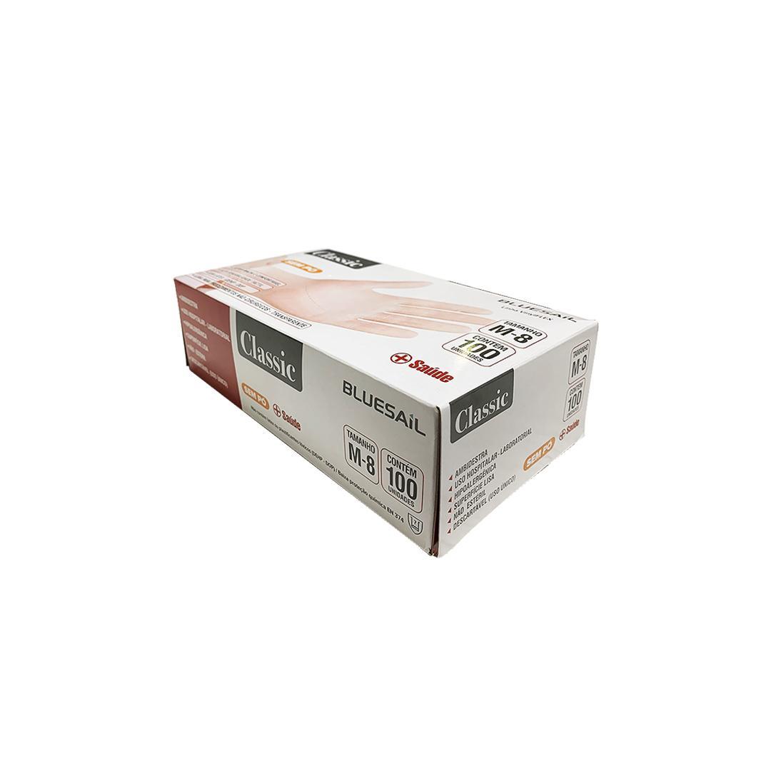 LUVA DE PROC VINIL N ESTERIL S/ PO TAM: M CX/100 - BLUESAIL