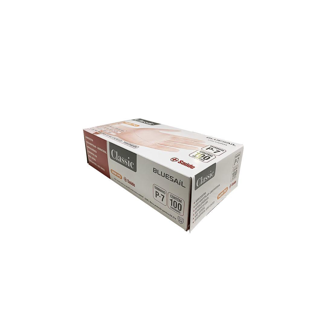 LUVA DE PROC VINIL N ESTERIL S/ PO TAM: P CX/100 - BLUESAIL