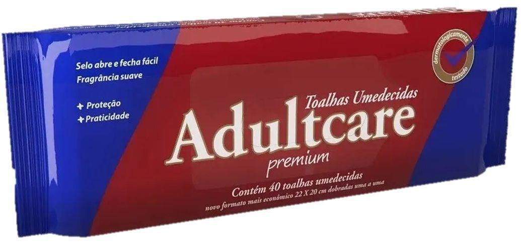 TOALHAS UMEDECIDAS PREMIUM C/ 40 - ADULTCARE