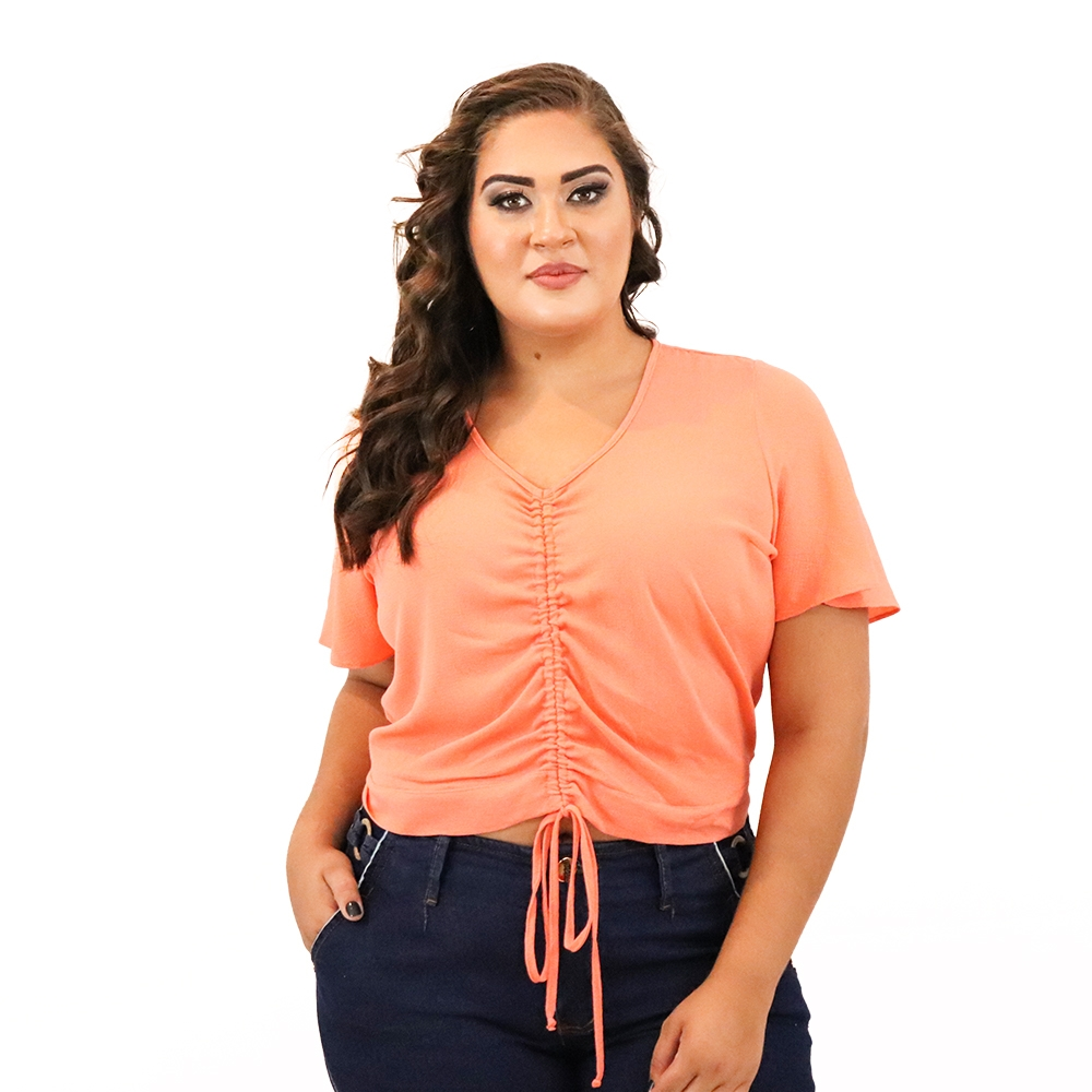 Blusa Plus Size com Transpasse