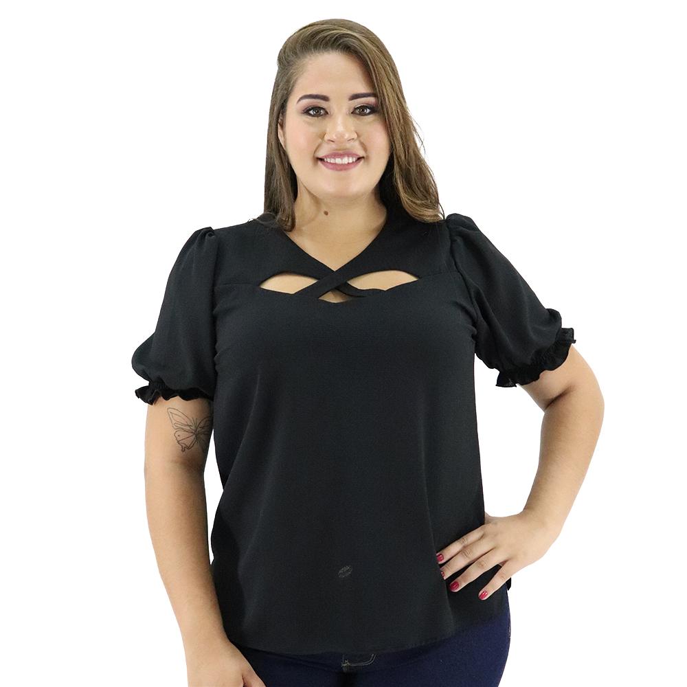 Blusa Plus Size Crepe