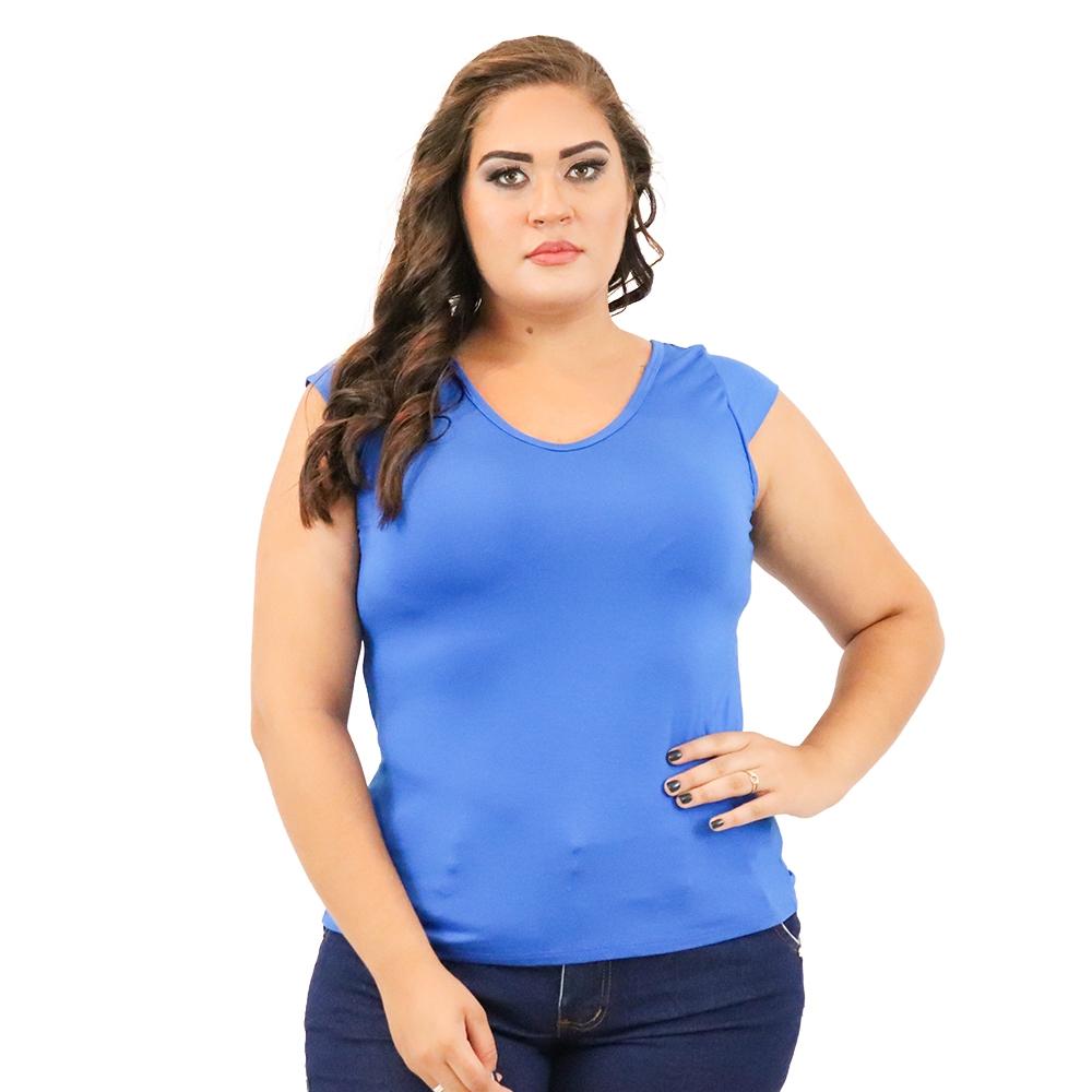 Blusa Plus Size Detalhe em X nas Costas