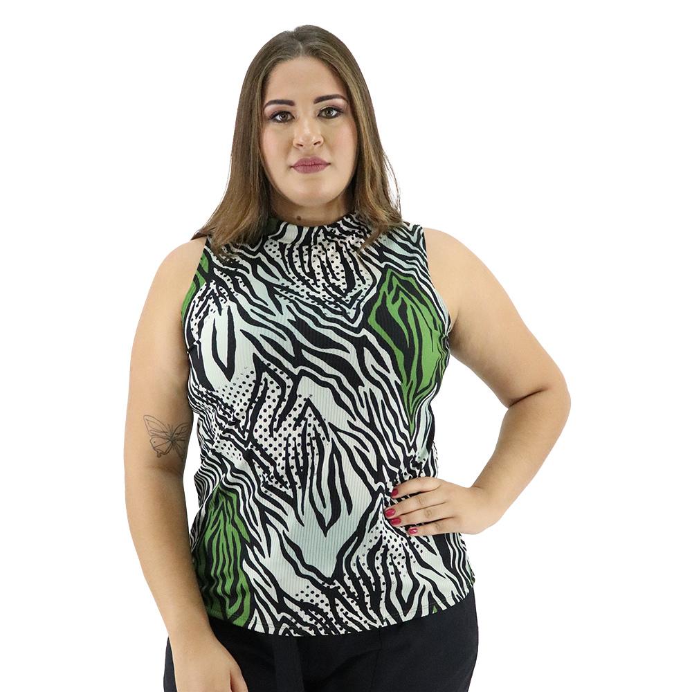 Camiseta Básica Plus Size Canelada