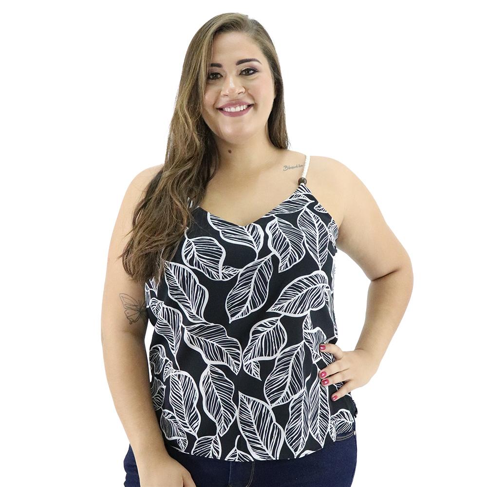 Camiseta Plus Size  Crepe