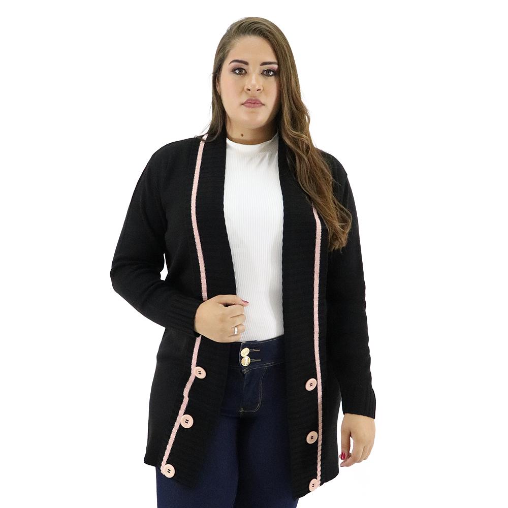 Cardigan Plus Size de Linha