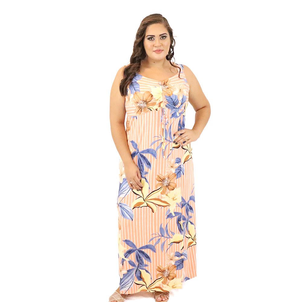 Vestido Longo Plus Size Viscolycra