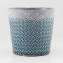 Cachepot Decorativo de Ceramica Azul