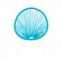 Cadeira AJ Import Base Metal Com Cordas Pvc Azul