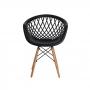 Cadeira Web Base Madeira Preto Futura