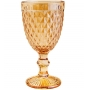 Conjunto com 6 Taças De Vidro Para Água Lyor Bico De Abacaxi Âmbar Metalizado 325ml