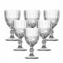 Conjunto de 6 Taças De Vidro Para Vinho Lyor Libélula Trasparente 265ml