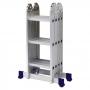 Escada De Alumínio Mor Multifuncional 4x3 12 Degraus