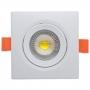 Luminária Ourolux Superled Spot Quadrado 7W 3000K Branco