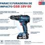 Parafusadeira Bosch GSB 18V-50 com Maleta + Duas Baterias