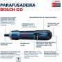 Parafusadeira Reta a Bateria 3,6V Versão Kit Bosch