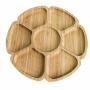 Petisqueira Com 7 Divisórias De Bambu Lyor Flower