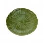 Prato De Cerâmica Banana Decorativa Cerâmica Lyor Leaf Verde