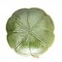 Prato De Cerâmica Banana Decorativa Leaf Verde 20X20X3cm