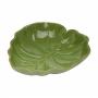 Prato De Cerâmica Decorativo Folha De Banana Lyor Leaf Verde