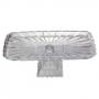Prato De Cristal Com Pé Para Bolo Lyor Quadratta 13,5cm X 36cm X 18,5cm