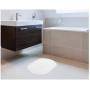 Tapete Oval Para Banheiro Kapazi Allegro Branco 40cm X 60cm