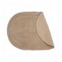 Tapete Oval Para Banheiro Kapazi Allegro Linen 40cm X 60cm