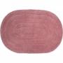 Tapete Oval Para Banheiro Kapazi Allegro Rosa 40cm X 60cm
