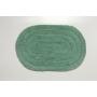 Tapete Oval Para Banheiro Kapazi Allegro Verde Menta 40cm X 60cm