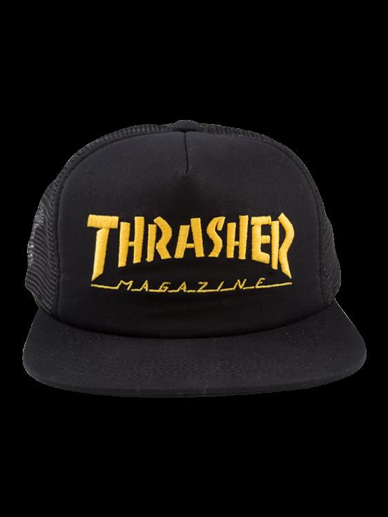 Boné Thrasher Snapback Mag Logo Mesh Preto / Amarelo