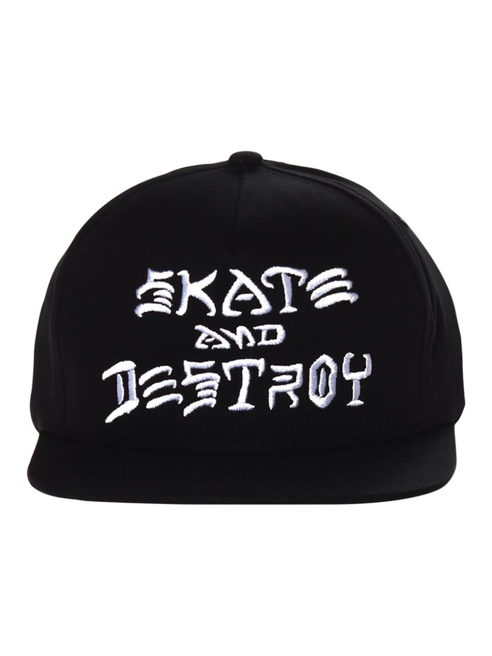 Boné Thrasher Snapback Skate And Destroy Preto