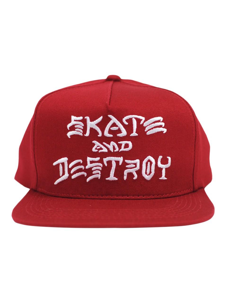 Boné Thrasher Snapback Skate And Destroy Vermelho