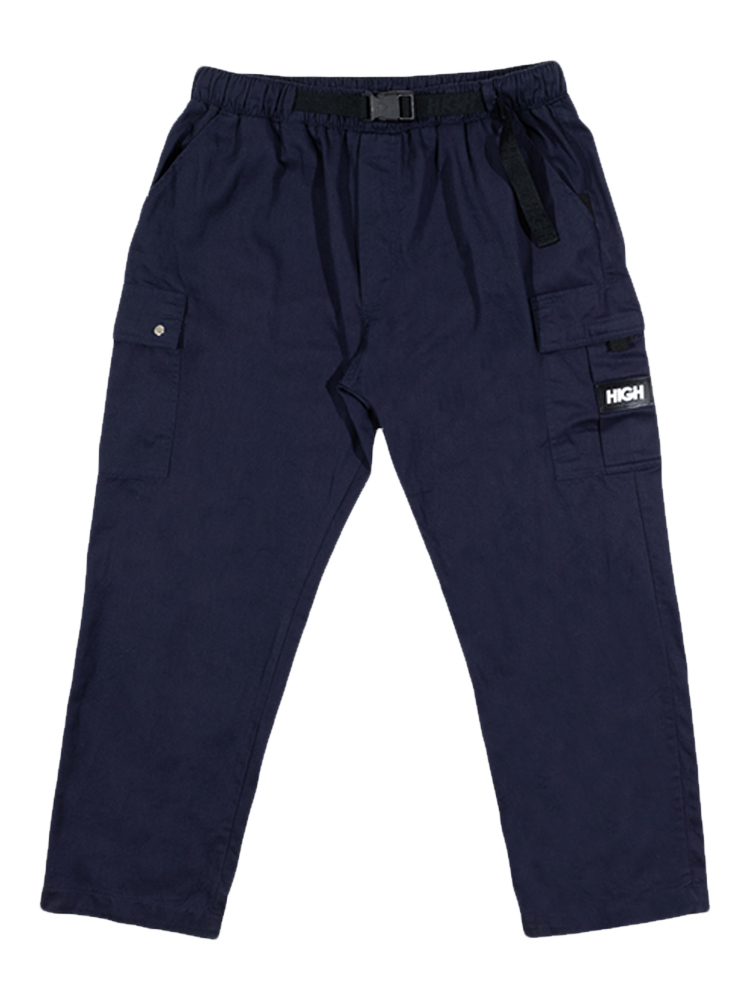 Calça High Strapped Cargo Pants Azul Marinho