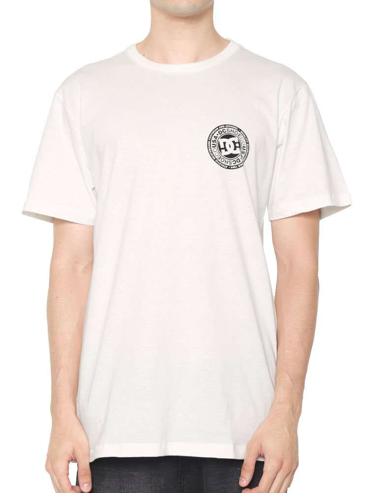 Camiseta DC Shoes Circle Star Snow Branca