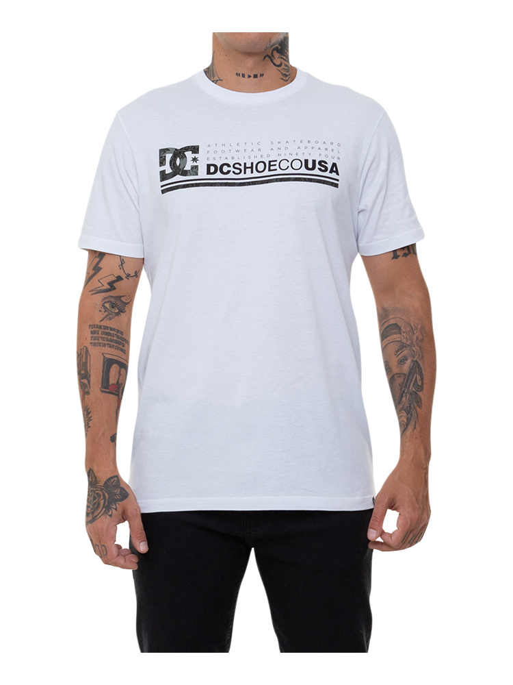 Camiseta DC Shoes Impact Camo Branca