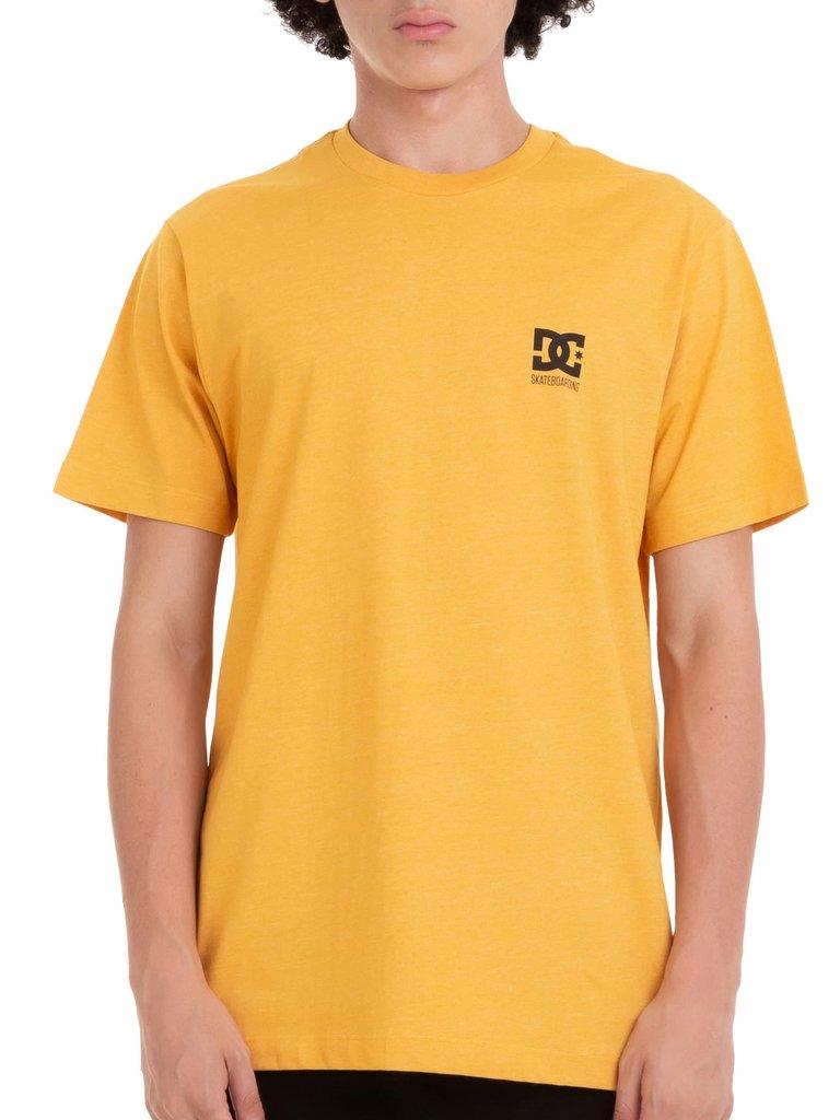 Camiseta Dc Shoes Logo Amarela