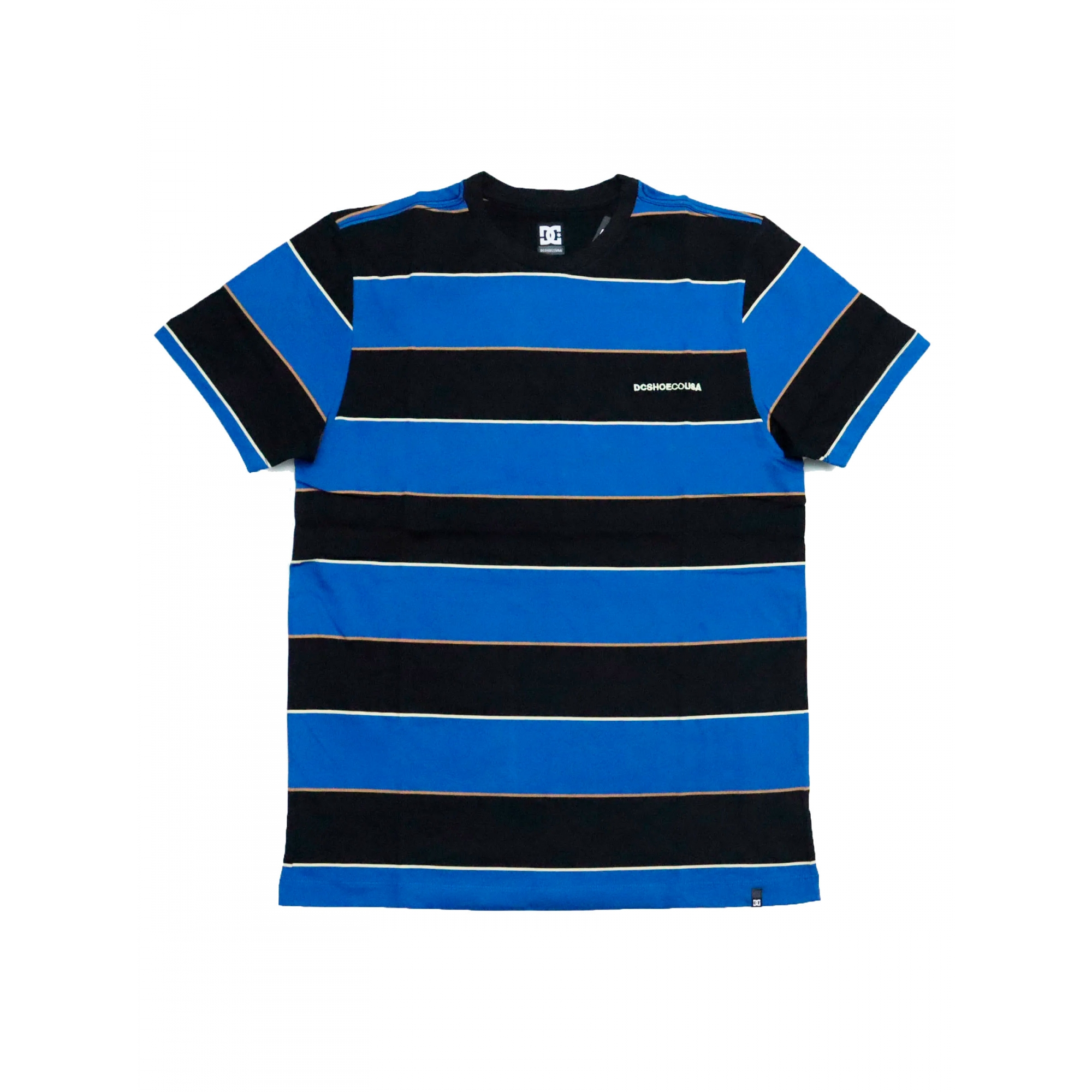 Camiseta DC Shoes Rally Stripe Preta / Azul