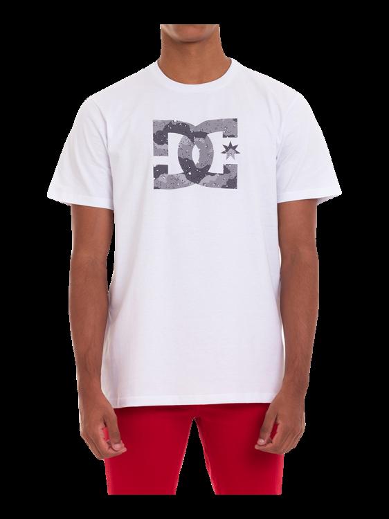 Camiseta DC Shoes Star Camo Cinza / Branca