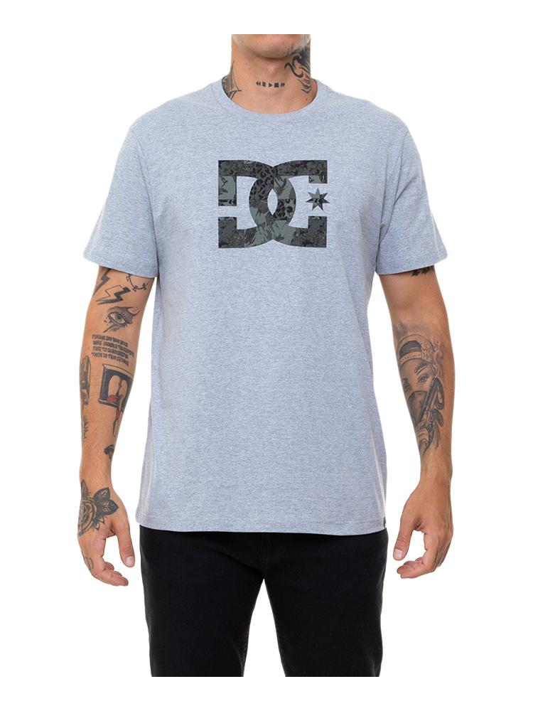 Camiseta DC Shoes Star Camo Fill Cinza Mescla