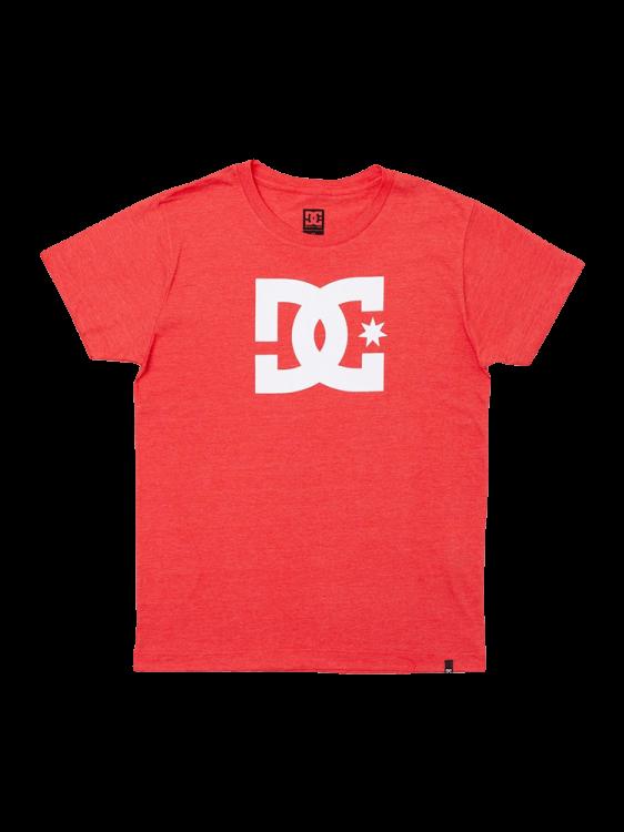 Camiseta DC Shoes Star Juvenil Vermelha Mescla
