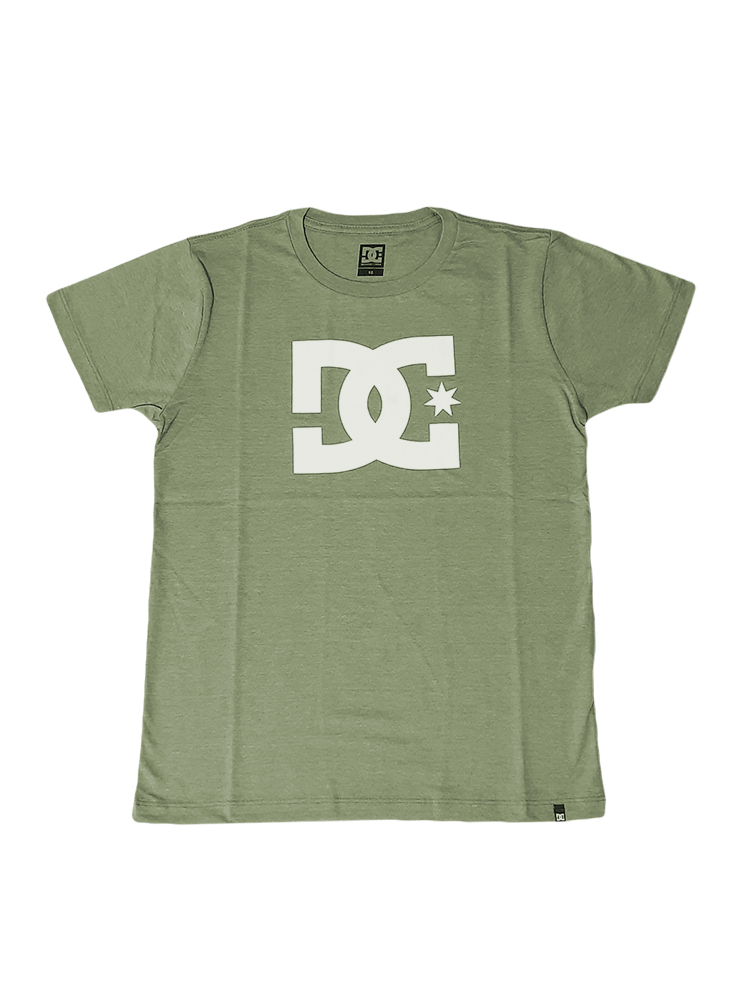 Camiseta DC Shoes Star Juvenil Verde Militar