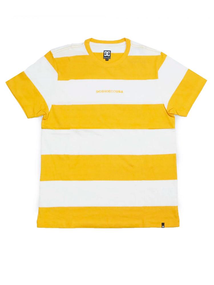 Camiseta DC Shoes Uptown Stripe Dark Amarela
