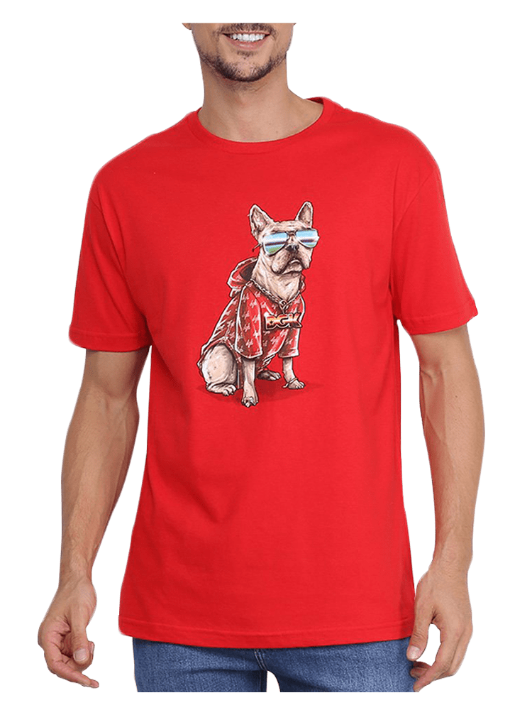 Camiseta Dgk Frenchie Vermelha