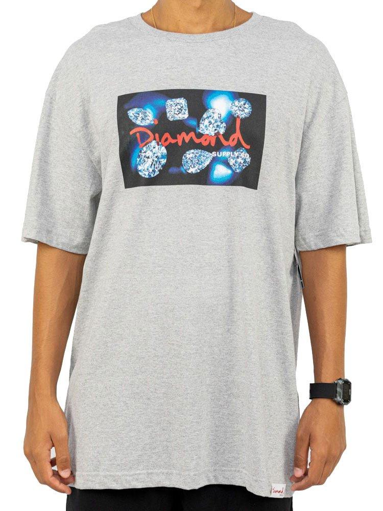 Camiseta Diamond Cuts Cinza