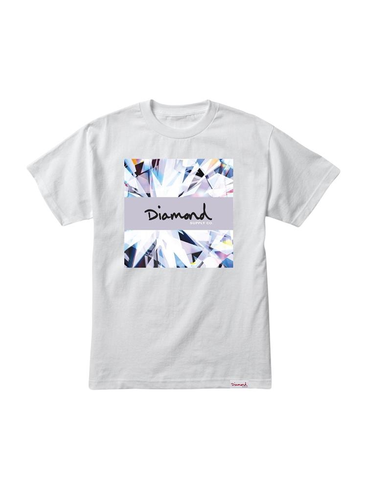 Camiseta Diamond Og Script Box Branca