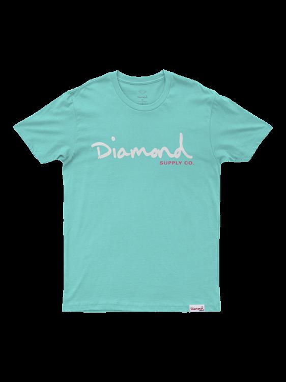 Camiseta Diamond Og Script Diamond Azul