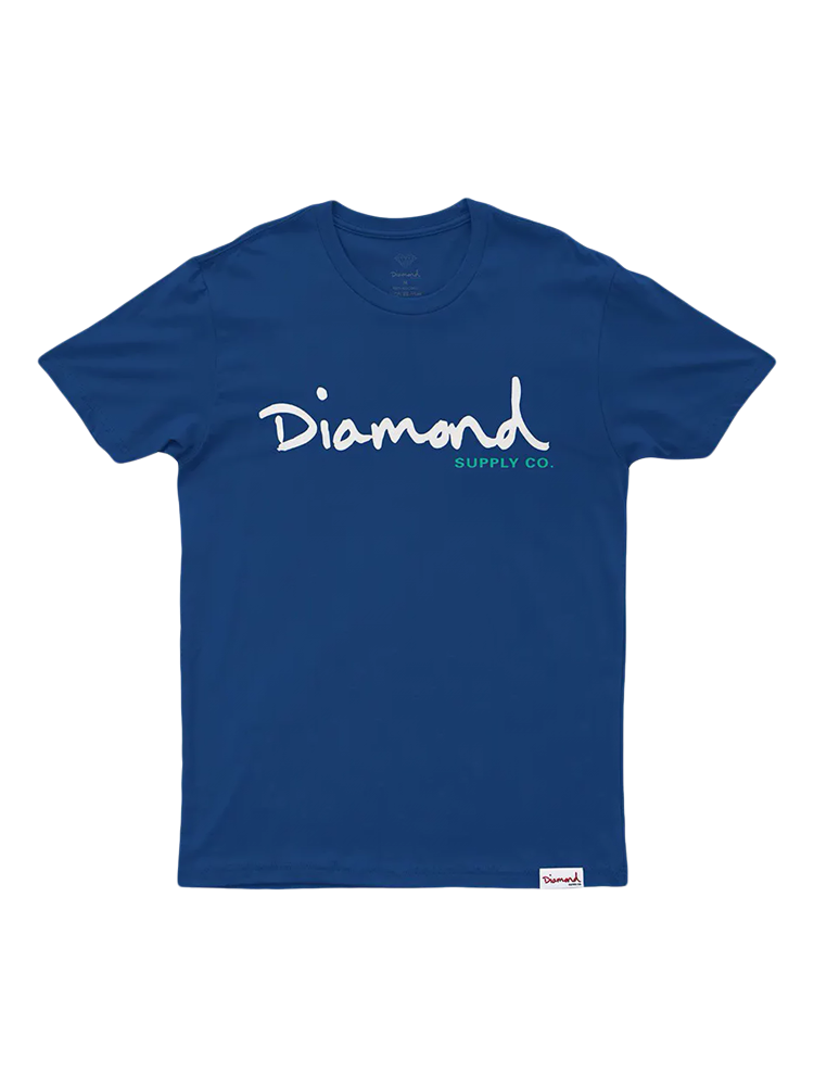Camiseta Diamond Og Script Royal Logo Branca