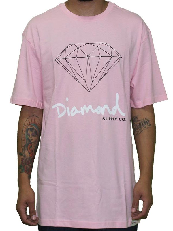 CAMISETA DIAMOND OG SIGN TEE ROSA