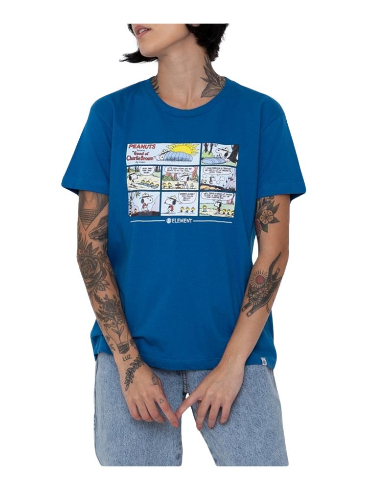 Camiseta Element Feminina Peanuts Camper Azul