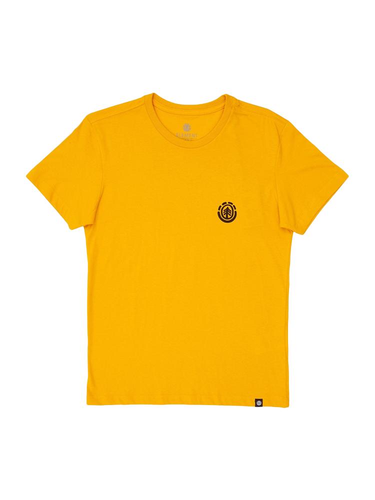 Camiseta Element Kinwood Juvenil Amarela